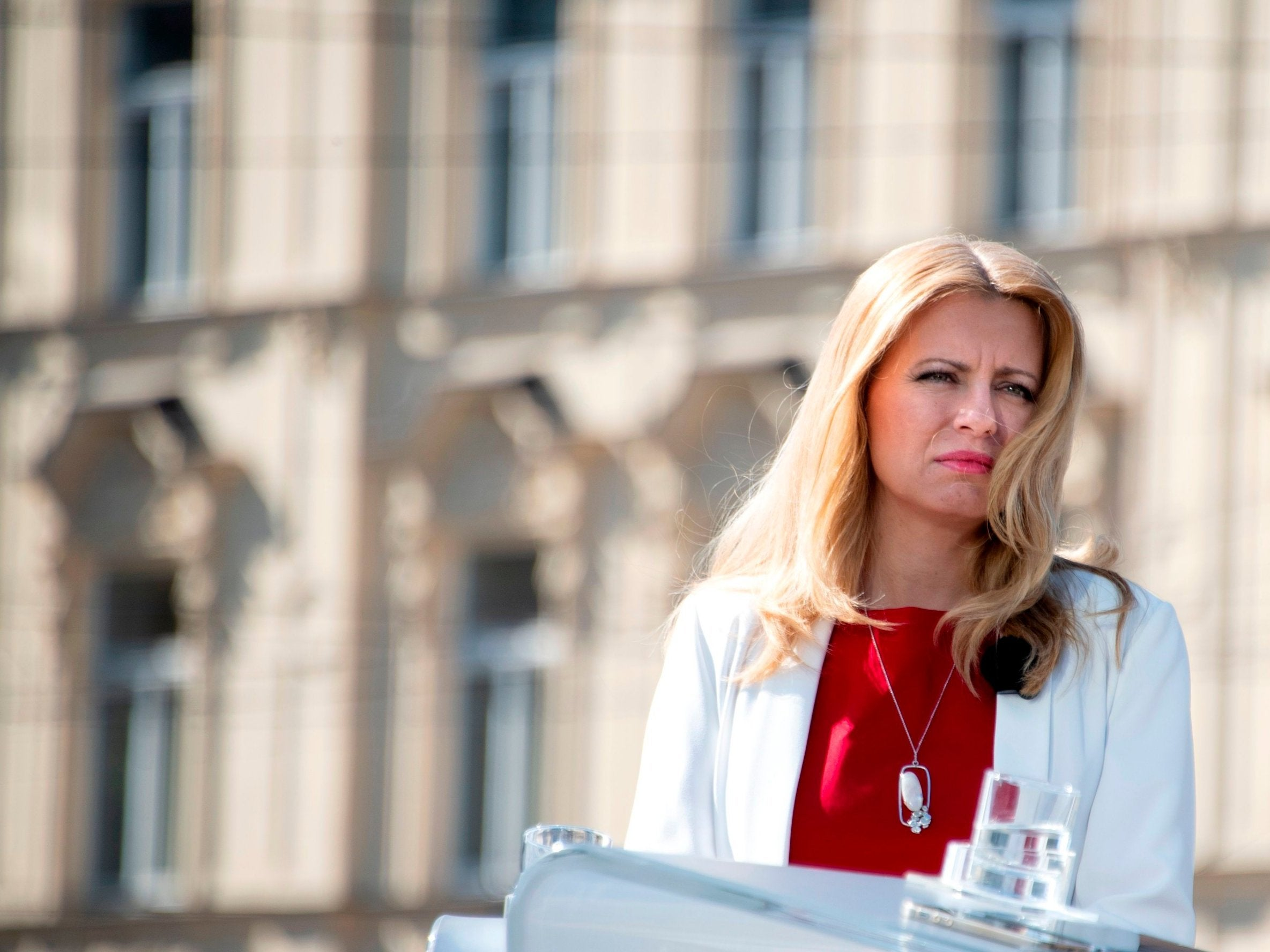 Slovakia's first female president takes office in a divided country 6