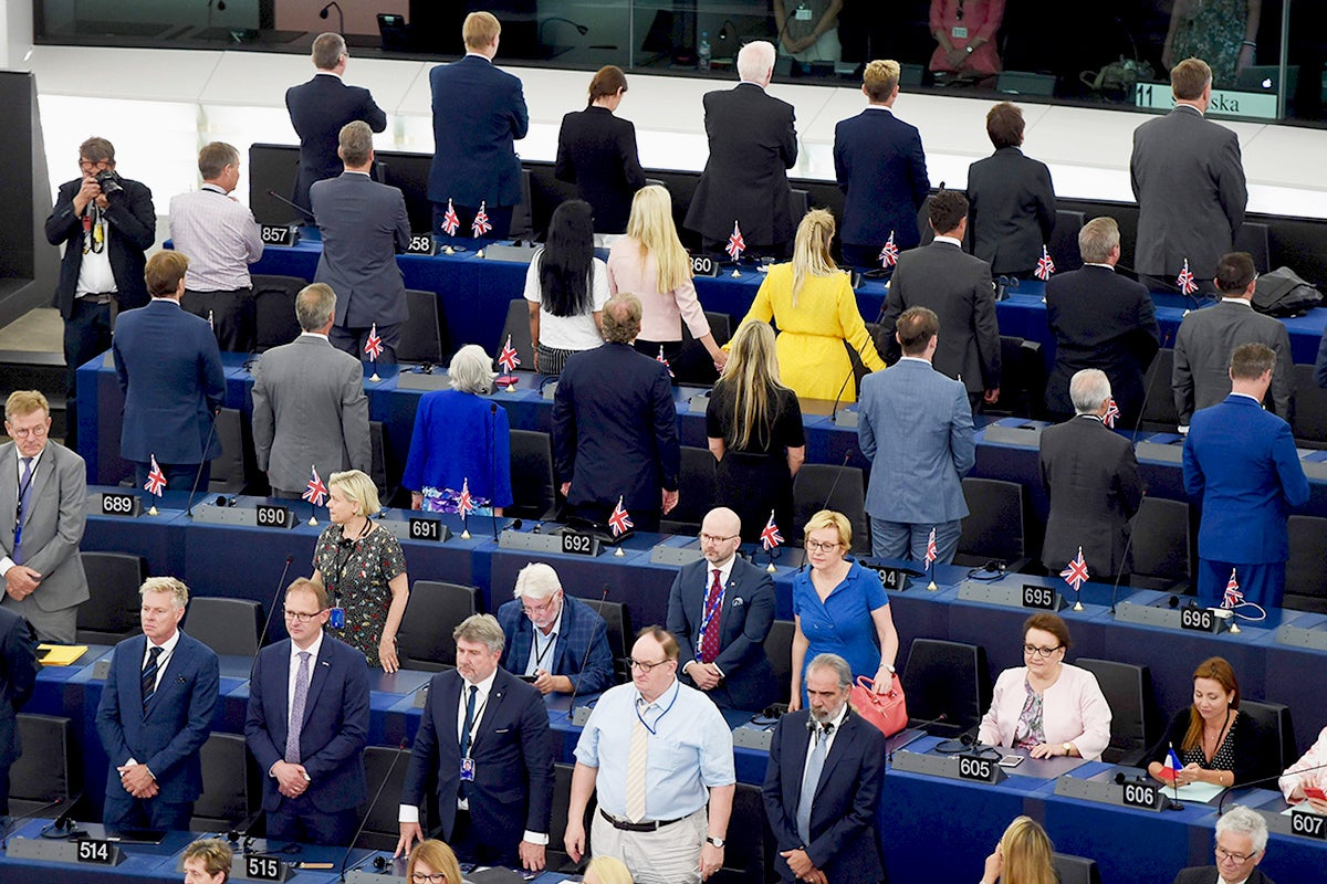 Brexit Party MEPs branded 'extremists' for Ode to Joy stunt: 'We would never turn our back on the British anthem' 2