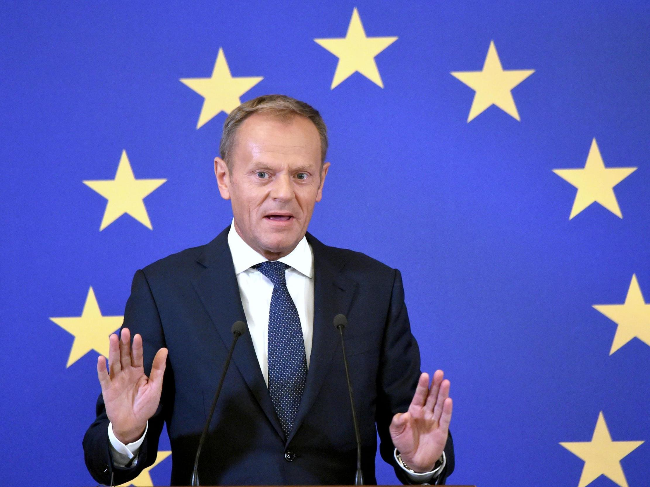 Donald Tusk launches scathing attack on Trump and Johnson as world leaders arrive at G7