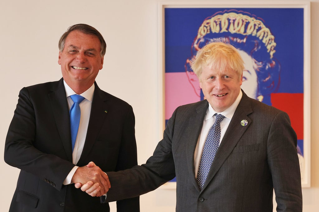 Boris Johnson tells vaccine-sceptic Bolsonaro to get jabbed
